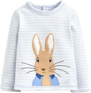 Tom Joule Dash Applique Genser, Blue Stripe Peter Rabbit