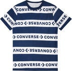 Converse Strip Wordmark T-Shirt, Navy