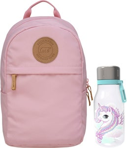 Beckmann Ryggsekk Mini Urban 10L & Flaske, Light Pink