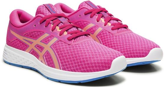 Asics Patriot 11 GS Sneaker, Pink Glo/Sun Coral