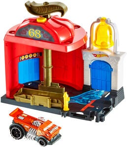Hot Wheels City Downtown Lekesett Fire Station Spinout