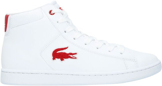 Lacoste Carnaby Evo Mid 3181 Sneaker, White/Red