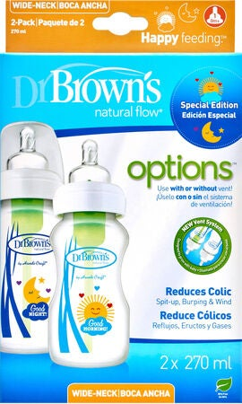 Dr. Browns Options Wideneck Tåteflaske 270 ml 2-pack