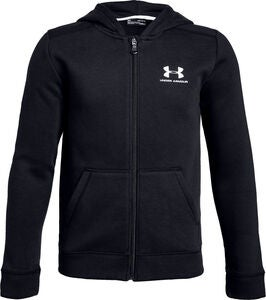 Under Armour EU Cotton Fleece Full Zip Jakke, Black