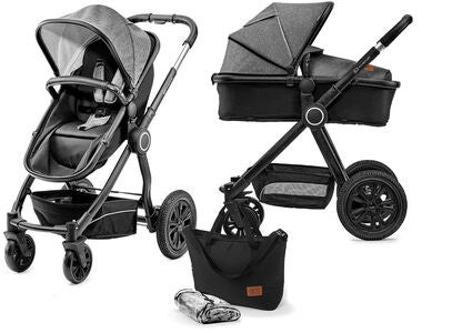 Kinderkraft Multipurpose 2-i-1 Veo Duovogn, Black/Grey