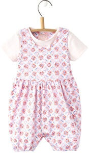Tom Joule Babydolly Body & T-Shirt-sett, Cream Summer Mosaic