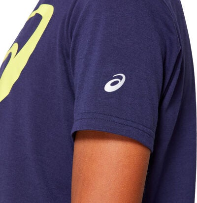 Asics Big Spiral T-shirt, Peacoat