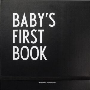 Design Letters Baby's First Book, Svart