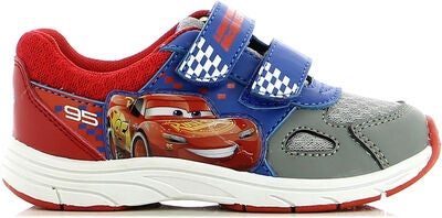 Disney Cars Sneaker, Lt. Grey/Red
