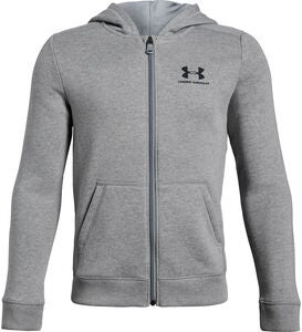 Under Armour EU Cotton Fleece Full Zip, Steel