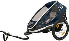 Hamax Outback One Reclining Sykkelvogn, Navy/White