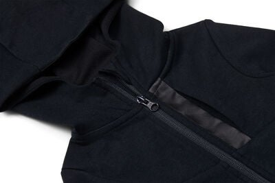 Hyperfied Mesh Zipped Hoodie, Anthracite