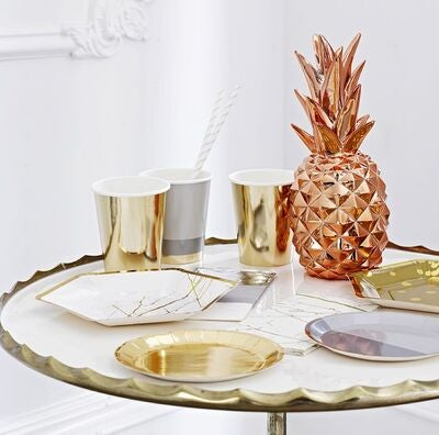 Talking Tables Ananas Dekorasjon, Metallic