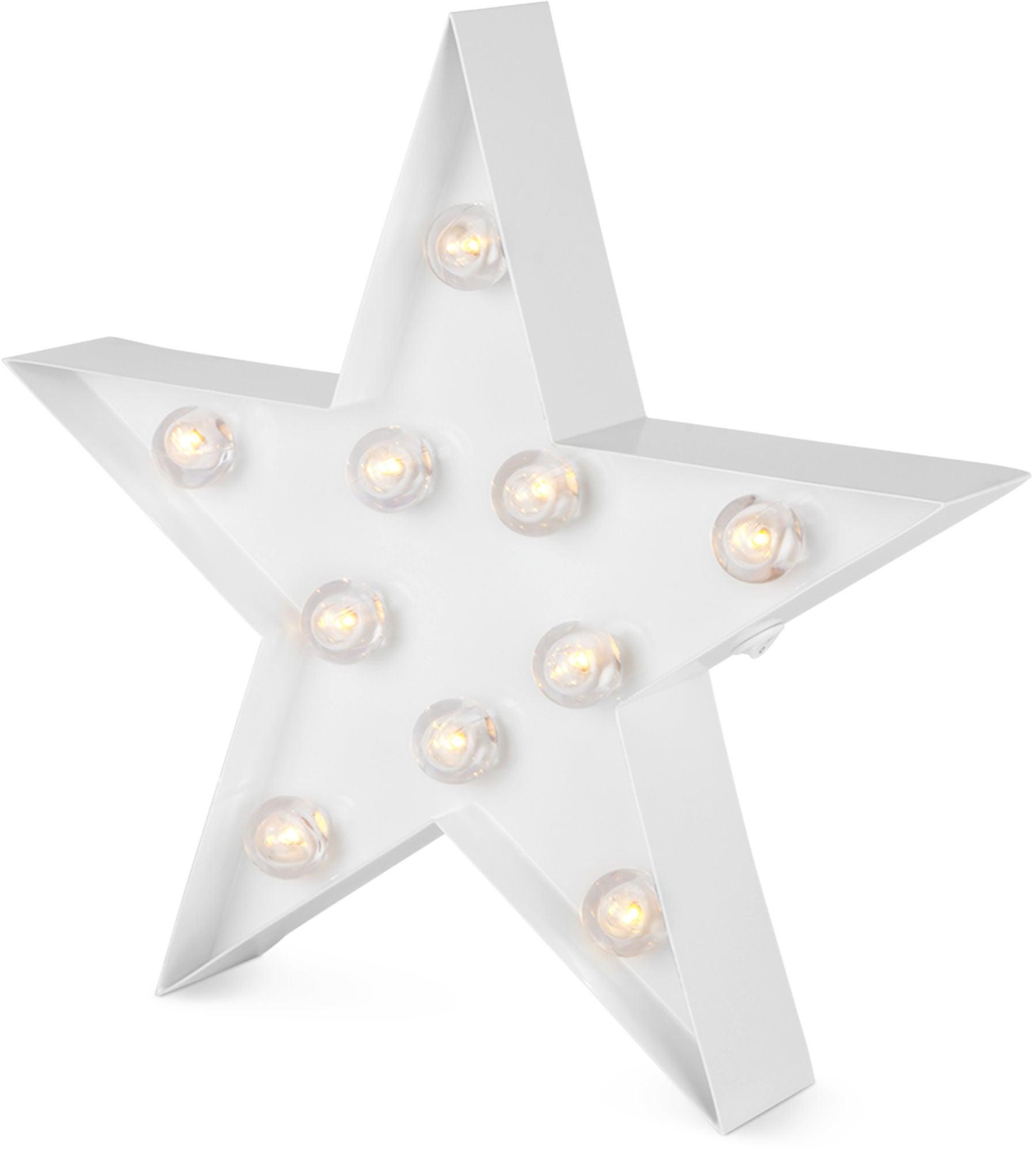 Alice&Fox Bokstavlampe Stjerne, Hvit