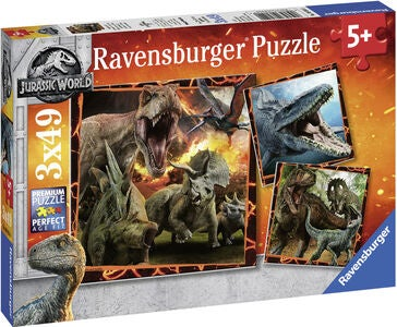 Ravensburger Puslespill Jurasic World 3x49 Brikker