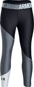 Under Armour HG Color Block Ankle Crop Leggings, Stealth Grey