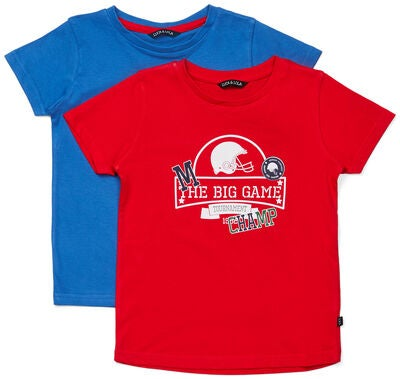 Luca & Lola San Marino T-Shirt 2-pack, Red/Blue