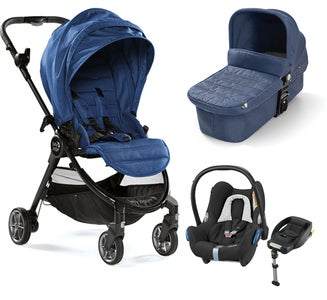 Baby Jogger City Tour Lux Duovogn, Iris + Maxi-Cosi Cabriofix Travelsystem
