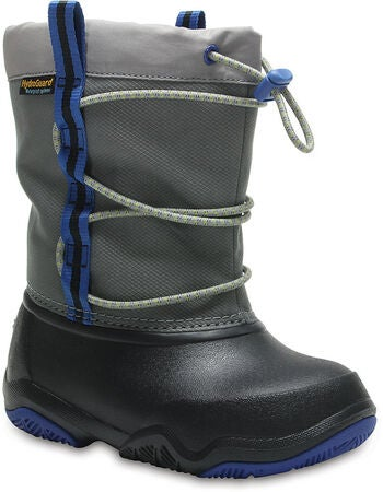 Crocs Swiftwater Vintersko, Black/Blue Jean