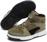 Puma Rebound Lay Up Fur PS Sneaker, Burnt Olive