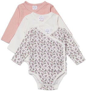 Luca & Lola Alexie Body 3-pack, Pink Flowers