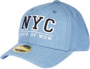 State Of Wow NYC Youth Baseball Cap, Denim