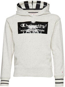Champion Kids Hettegenser, Light Grey Black Dots Melange