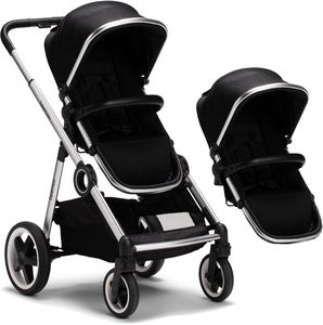 Beemoo Twin Travel+ 2020 Søskenvogn, Black