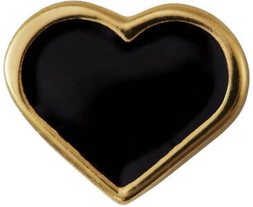 Design Letters Charm Heart, Gold/Black