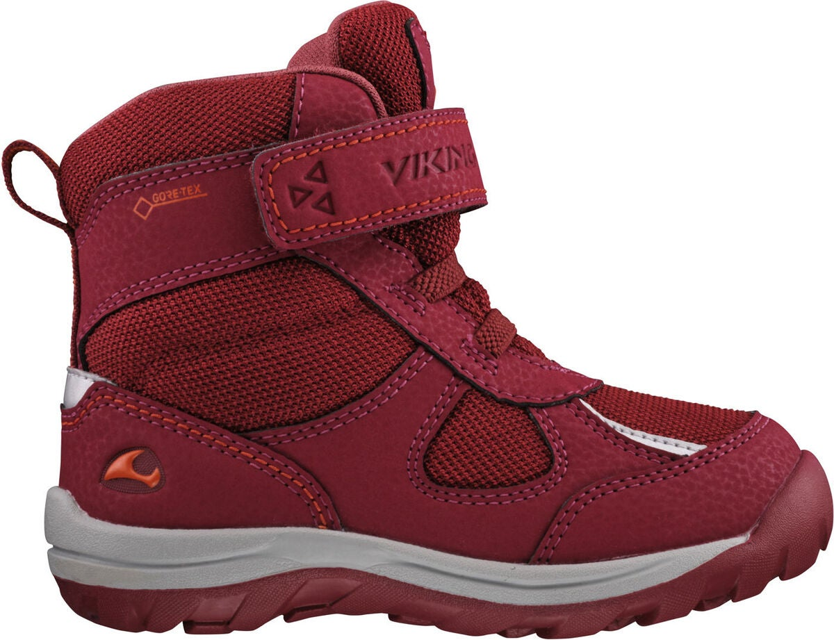 Viking Hamar Kids II GTX Vintersko, Dark Red/Red