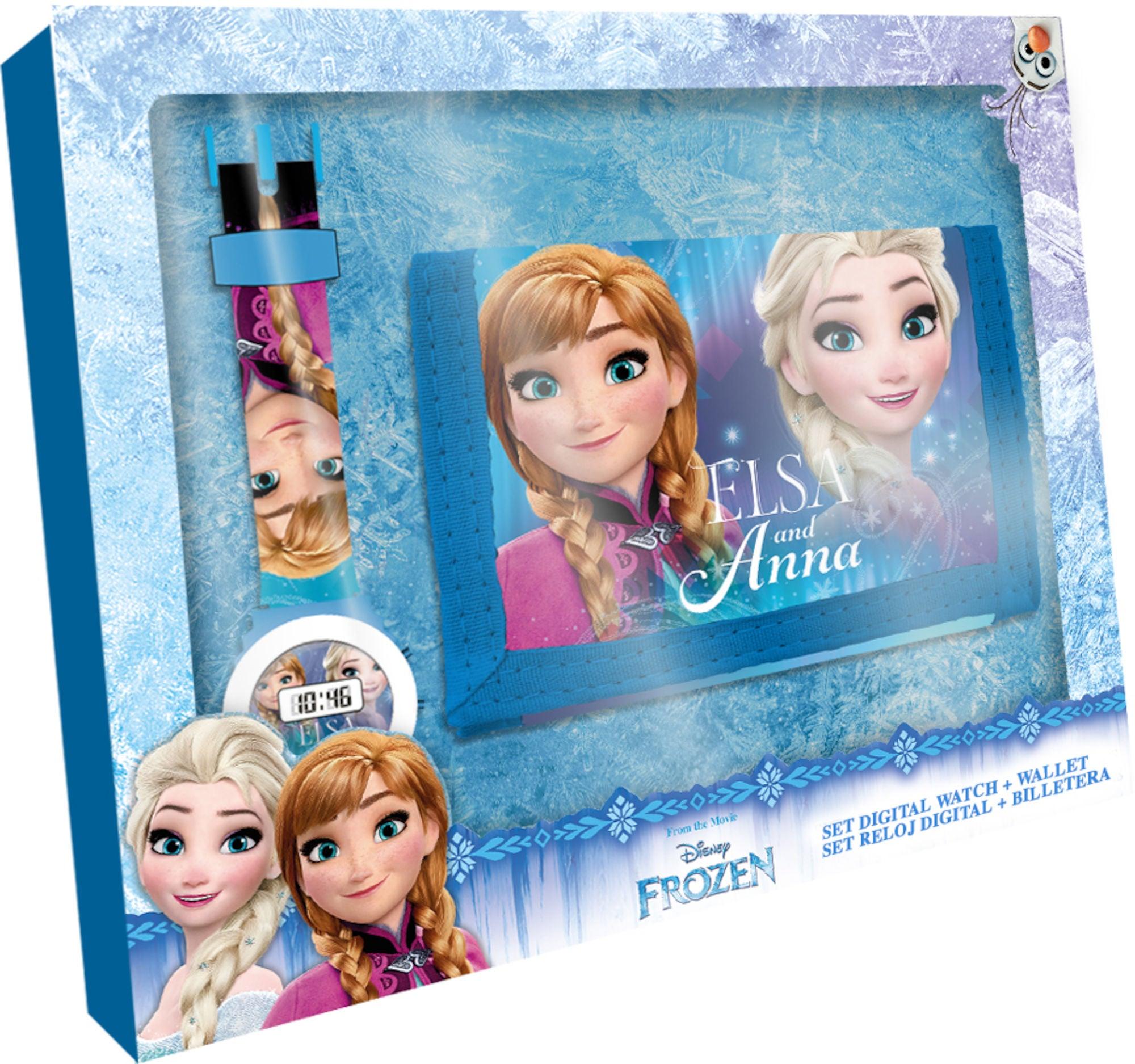 Disney Frozen Digital Klokke Og Lommebok