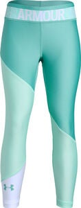 Under Armour HG Color Block Ankle Crop Legging, Neo Turquoise