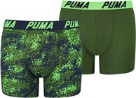Puma Camo 2-Pack Boxer, Navy/Green
