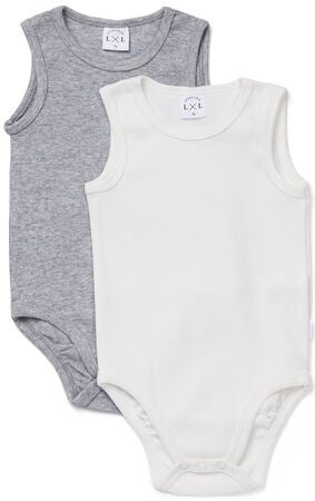 Luca & Lola Bambo Body 2-pack, Grey