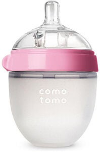 Comotomo Natural Feel Tåteflaske 150ml, Rosa