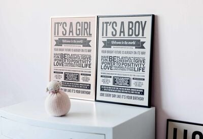 I Love My Type Poster It's A Boy