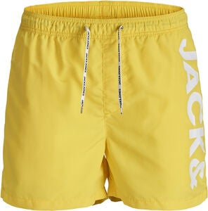 Jack & Jones Cali Badeshorts, Vibrant Yellow