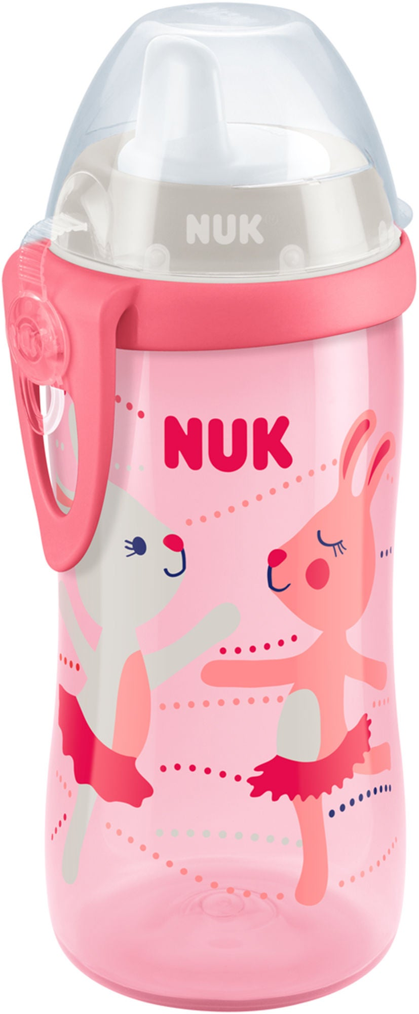 NUK Kiddy Cup 300 ml Hare, Rosa