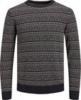 Jack & Jones Deep Knit Genser, Caviar