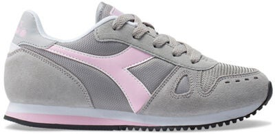 Diadora Simple Run GS Sneaker, Grey Alaska