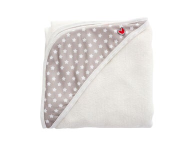 Baby to love Smart Babyhåndkle Bamboo, White Stars
