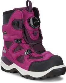 53184540 ECCO Snow Mountain Sneakers, Black/Red Plum