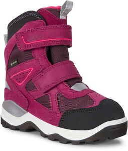 ECCO Snow Mountain Vintersko GORE-TEX, Black/Red Plum