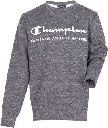 Champion Kids Crewneck Genser, New Charcoal Grey Melange Dark