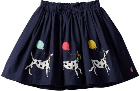 Tom Joule Ariel Applique Skjørt, Navy Dalmatian