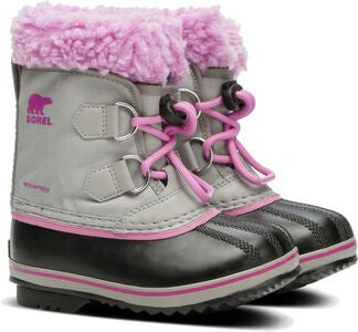 Sorel Youth Pac Nylon Vintersko, Chrome Grey/Orchid
