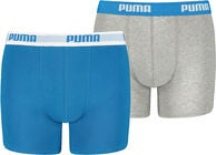Puma Basic Boksershorts 2-Pack, Blue/Grey