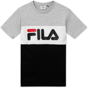 FILA Classic Day Blocked T-Shirt, Light Grey Melange