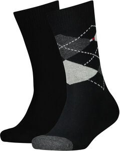 Tommy Hilfiger Original Argyle Sokker 2-Pack, Black