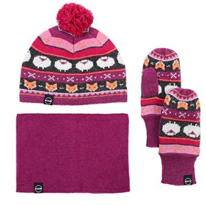 Kombi The Fox Fair Isle Vintersett, Magenta Mix